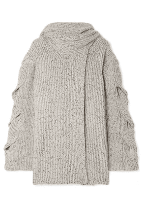 See By Chloé - Mélange Ribbed-knit Cardigan - White