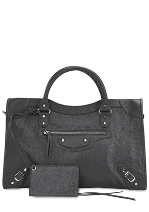 Classic City Leather Top Handle Bag
