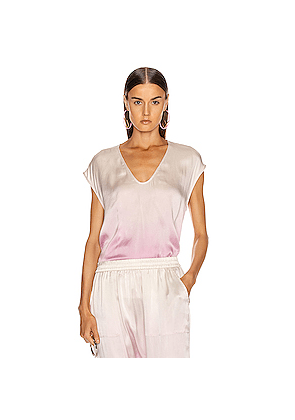 Raquel Allegra Perfect Shell Top in Ombre & Tie Dye,Pink