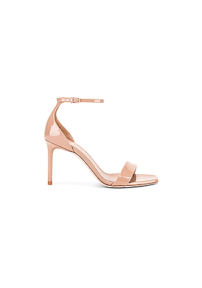Saint Laurent Amber Ankle Strap Sandals in Neutral,Pink