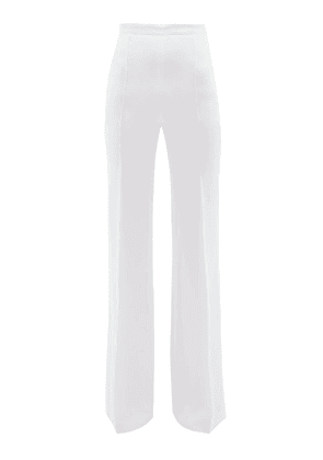 Andrew Gn - High Rise Wide Leg Trousers - Womens - White