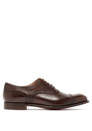 Cheaney - Wilfred Leather Semi Brogues - Mens - Dark Brown