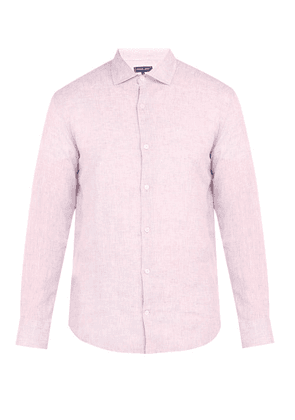 Frescobol Carioca - Point Collar Linen Shirt - Mens - Pink