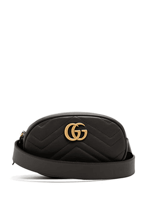 Gucci - Gg Marmont Quilted Leather Belt Bag - Womens - Black