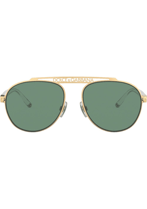Dolce & Gabbana aviator sunglasses - Gold