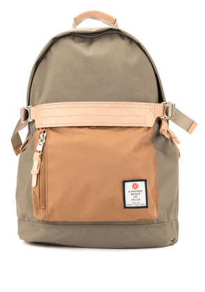As2ov classic logo patch backpack - Brown