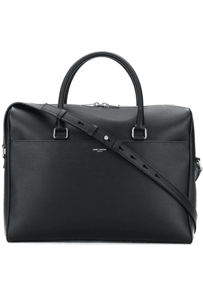 Saint Laurent logo stamp briefcase - Black