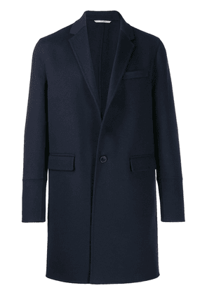 Valentino single breasted wool coat - Blue