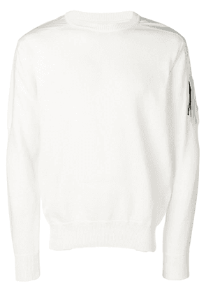 CP Company logo patch sweater - White