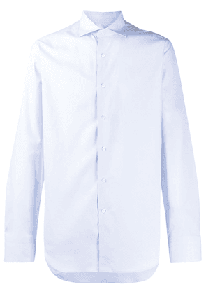 Canali classic long-sleeved shirt - Blue