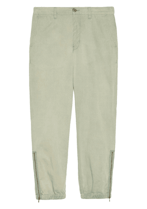 Gucci Cotton pant with lyre embroidery - Blue
