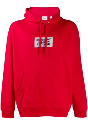Burberry Burberry London England patch hoodie - Red