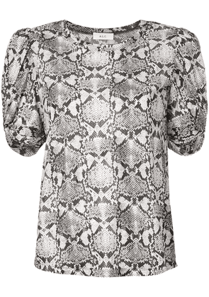 A.L.C. snakeskin effect top - Brown