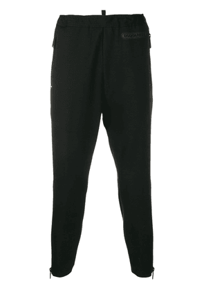 Dsquared2 logo patch tapered trousers - Black