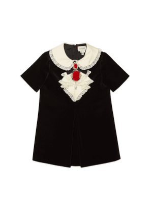 Children's velvet dress with bow