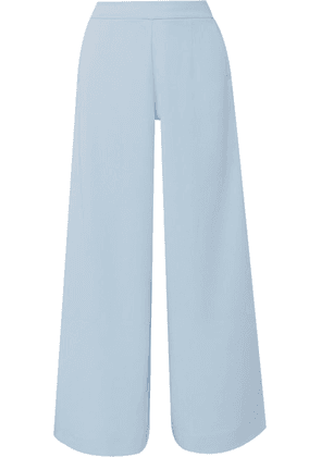 Vaara - Liv Wide Striped Jersey Track Pants - Light blue