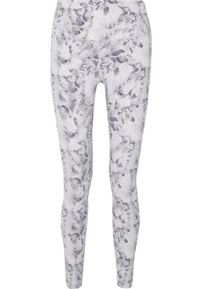 Varley - Biona Floral-print Stretch Leggings - White