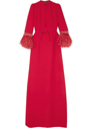 Andrew Gn - Embellished Cady Gown - Red
