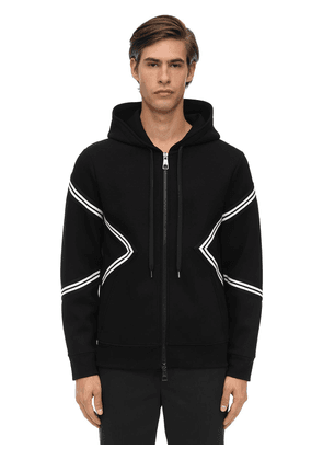 Zip-up Viscose Neoprene Hoodie