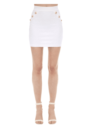 Viscose Blend Knit Mini Skirt