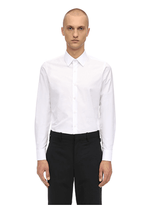 Logo Slim Fit Cotton Shirt