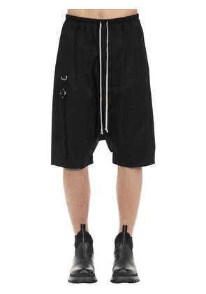 Rick's Pods Cotton Shorts W/metal Detail