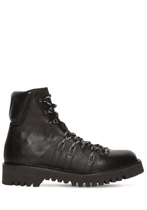 Logo Leather Lace-up Hiking Boots
