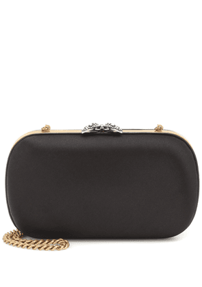 Broadway embellished satin clutch