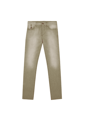 Faded Grey Classic Slim-Fit Jeans