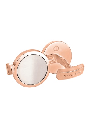 Rose Gold-Plated Fibre Optic Circle Cufflinks