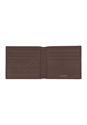 Brown Embossed Leather Zino Eight-Card Wallet