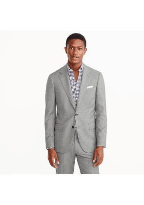Ludlow Slim-fit wide-lapel suit jacket in grey stretch Italian worsted wool