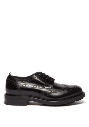 Dunhill - Country Leather Brogues - Mens - Black