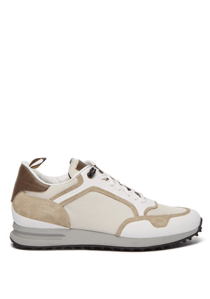 Dunhill - Radial Canvas And Suede Trainers - Mens - White