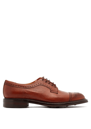 Cheaney - Tenterden Grained Leather Shoes - Mens - Burgundy