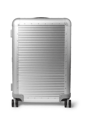 Fabbrica Pelletterie Milano - Spinner 68cm Leather-trimmed Aluminium Suitcase - Silver