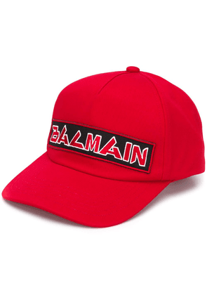 Balmain logo embroidered cap