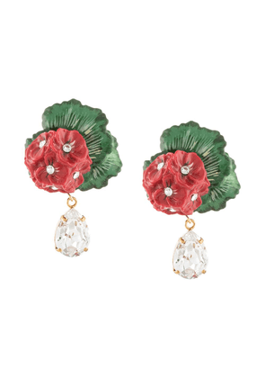 Dolce & Gabbana drop earrings with decorative details - Red