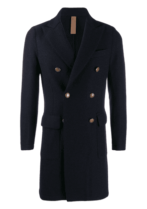 Eleventy double-breasted coat - Blue