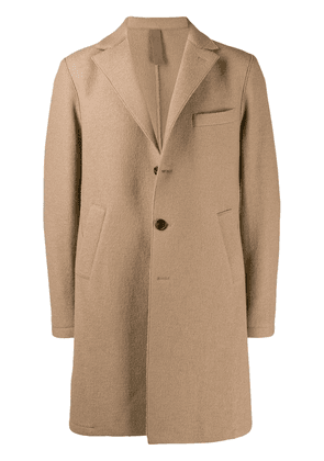 Eleventy single-breasted textured coat - Neutrals