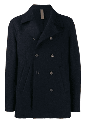 Eleventy textured double-breasted jacket - Blue