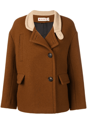 Marni button up jacket - Brown