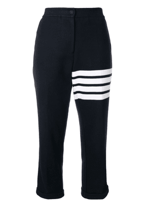 Thom Browne 4-Bar Navy Double Face Trousers - Blue