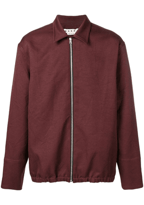 Marni fitted zip-up jacket - Red