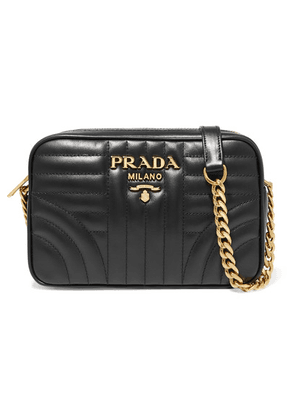 Prada - Diagramme Small Quilted Leather Shoulder Bag - Black