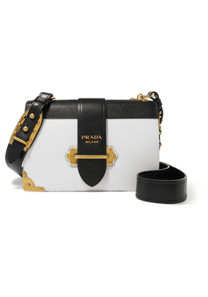 Prada - Cahier Large Two-tone Leather Shoulder Bag - White