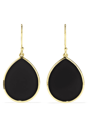 Ippolita - Polished Rock Candy 18-karat Gold Onyx Earrings - one size