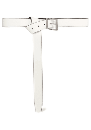 Prada - Reversible Leather Belt - White