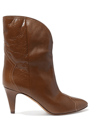 Isabel Marant - Dythey Leather Ankle Boots - Taupe