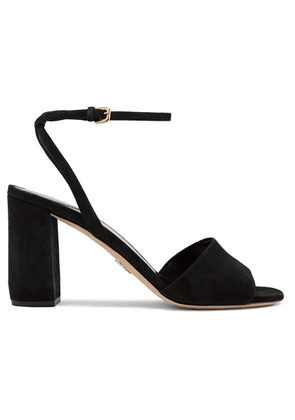 Prada - 85 Suede Sandals - Black